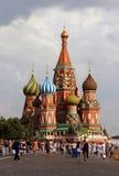 Catedral de la albahaca del santo, Moscú Foto de archivo libre de regalías