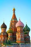 Catedral de la albahaca del St en Moscú. Fotografía de archivo