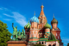 Catedral de la albahaca del St en Plaza Roja en Moscú, Rusia Foto de archivo