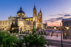 Catedral de la almudena de马德里,西班牙 库存图片