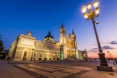 Catedral de la almudena de Madrid, Espagne Photos libres de droits