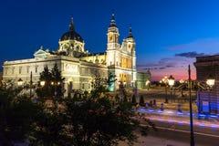Catedral de la almudena de Madrid, Spanien Royaltyfri Fotografi