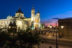 Catedral de la almudena de Madrid, Spanien Royaltyfria Foton