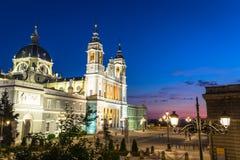 Catedral de la almudena de Madrid, Spanien Arkivbild