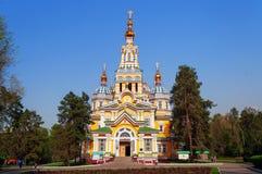 Catedral de la ascensión en Almaty fotos de archivo