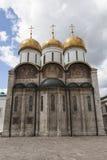 Catedral de la asunción en Kremlin (Moscú) Imagen de archivo libre de regalías