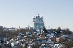 Catedral de la asunción en Smolensk Fotografía de archivo libre de regalías