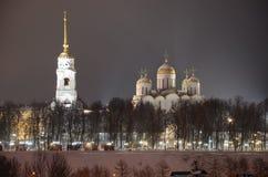 Catedral de la asunción en Vladimir Foto de archivo libre de regalías
