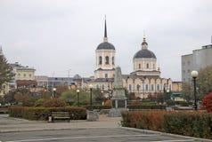 Catedral de la epifanía en Tomsk, Rusia fotografía de archivo libre de regalías