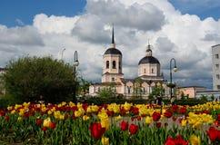 Catedral de la epifanía, Tomsk foto de archivo libre de regalías