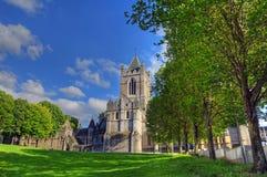 Catedral de la iglesia de Cristo en Dublín, Irlanda imagen de archivo libre de regalías