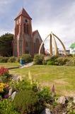 Catedral de la iglesia de Cristo en Stanley portuario Foto de archivo