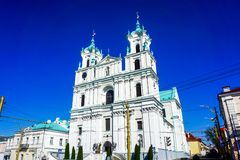 Catedral de la jesuita de Grodno fotografía de archivo