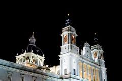 catedral de-la madrid för almudena Royaltyfria Bilder