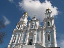 Catedral de la natividad de la Virgen en Glubokoie imagen de archivo libre de regalías
