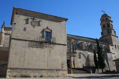Catedral de la natividad de nuestra señora de Baeza Imagen de archivo
