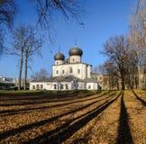 Catedral de la natividad de nuestra señora, Veliky Novgorod Imagen de archivo libre de regalías