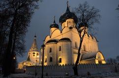 Catedral de la natividad en Suzdal el Kremlin Imágenes de archivo libres de regalías