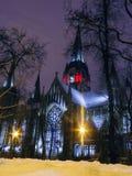 Catedral de la noche Imágenes de archivo libres de regalías