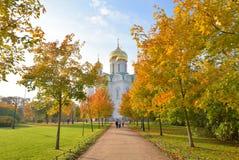 Catedral de la ortodoxia de St Catherine en Tsarskoye Selo imagen de archivo libre de regalías