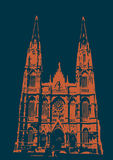 Catedral de La Plata - blått och gräsplan Fotografering för Bildbyråer