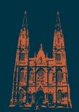 Catedral DE La Plata - blauw en groen Stock Afbeelding
