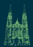 Catedral de La Plata - blu e verde Immagini Stock Libere da Diritti