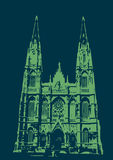 Catedral de La Plata - blue and green Royalty Free Stock Images