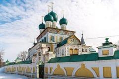 Catedral de la resurrección en Tutaev, Rusia Ring Travel de oro Fotos de archivo libres de regalías