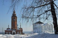 Catedral de la resurrección Rusia Cherdyn Foto de archivo libre de regalías