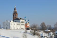 Catedral de la resurrección Rusia Cherdyn Imagen de archivo libre de regalías