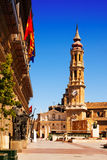 Catedral de la Seo in Zaragoza. Aragon Royalty Free Stock Photography