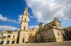 Catedral de la suposición de la Virgen María en Lecce, Italia Fotografía de archivo
