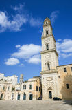 Catedral de la suposición de la Virgen María en Lecce, Italia Imagen de archivo