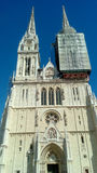 Catedral de la suposición de la Virgen María y del Sts bendecidos Stephen y Ladislav Foto de archivo