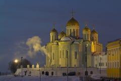Catedral de la suposición del Virgen María bendecido en Vladim fotos de archivo