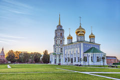 Catedral de la suposición en Tula el Kremlin, Rusia imagenes de archivo