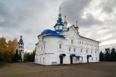 Catedral de la suposición de la virgen bendecida en el monasterio santo de Zilant Dormition imagen de archivo