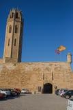 Catedral de la torre de reloj principal de Lérida Imagen de archivo libre de regalías