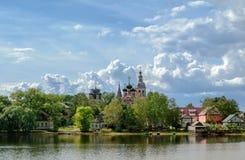 Catedral de la trinidad en Ostashkov Imágenes de archivo libres de regalías