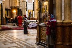 Catedral de la trinidad santa de Tbilisi Fotos de archivo libres de regalías