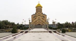 Catedral de la trinidad santa Tbilisi imagen de archivo