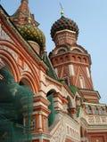 Catedral de las albahacas del St - cuadrado rojo de Moscú Imagenes de archivo