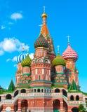 Catedral de las albahacas del St en Plaza Roja en Moscú Fotografía de archivo