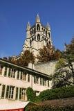 Catedral de Lausanne Imagen de archivo libre de regalías