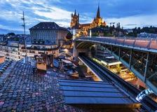 Catedral de Lausanne Fotos de archivo