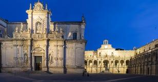 Catedral de Lecce Imágenes de archivo libres de regalías