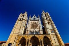 Catedral de Leon, España Imágenes de archivo libres de regalías