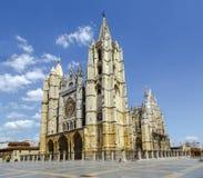 Catedral de Leon, Spain Imagem de Stock Royalty Free