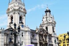Catedral de Lima - catedral de Lima Imagen de archivo libre de regalías
